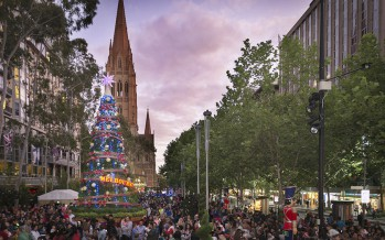 Melbourne gets into the Christmas spirit