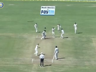 India's final wicket falls to Nathan Lyon in the first test at Pune, february 2017 Fox screenshot