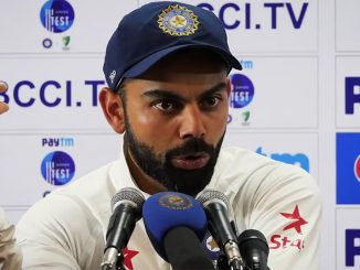 Indian captain Virat Kohli complains about Stev Smith's use of advice from the dressing room before deciding on wicket referrals. 2nd test, Bangalore, 8march2017. Screengrab from Cricket Australia video.