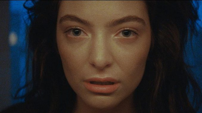 Lorde image from the Vevo promotional video.