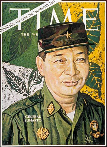 General Suharto as shown on Time's cover after he seized power in 1966.