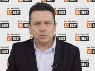 Nick Xenophon announces he will abandon federal senate for a run in State elections in March 2018. Screengrab ex Vimeo.