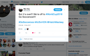 Socceroos Qualify: A Twitter Story