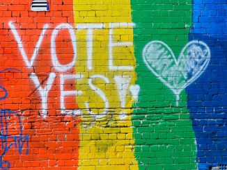 same-sex marriage - vote yes - even the walls are crying out. 1nov2017