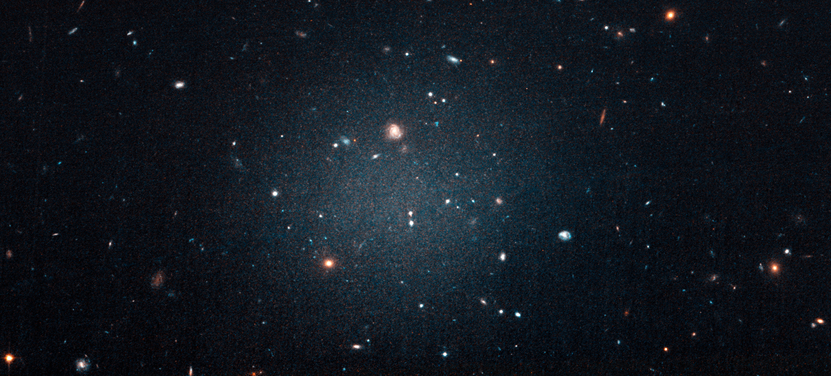 NASA image of LGC1052-DF2 - galaxy that appears to lack dark matter and fails to meet existing understanding of how galaxies are formed.