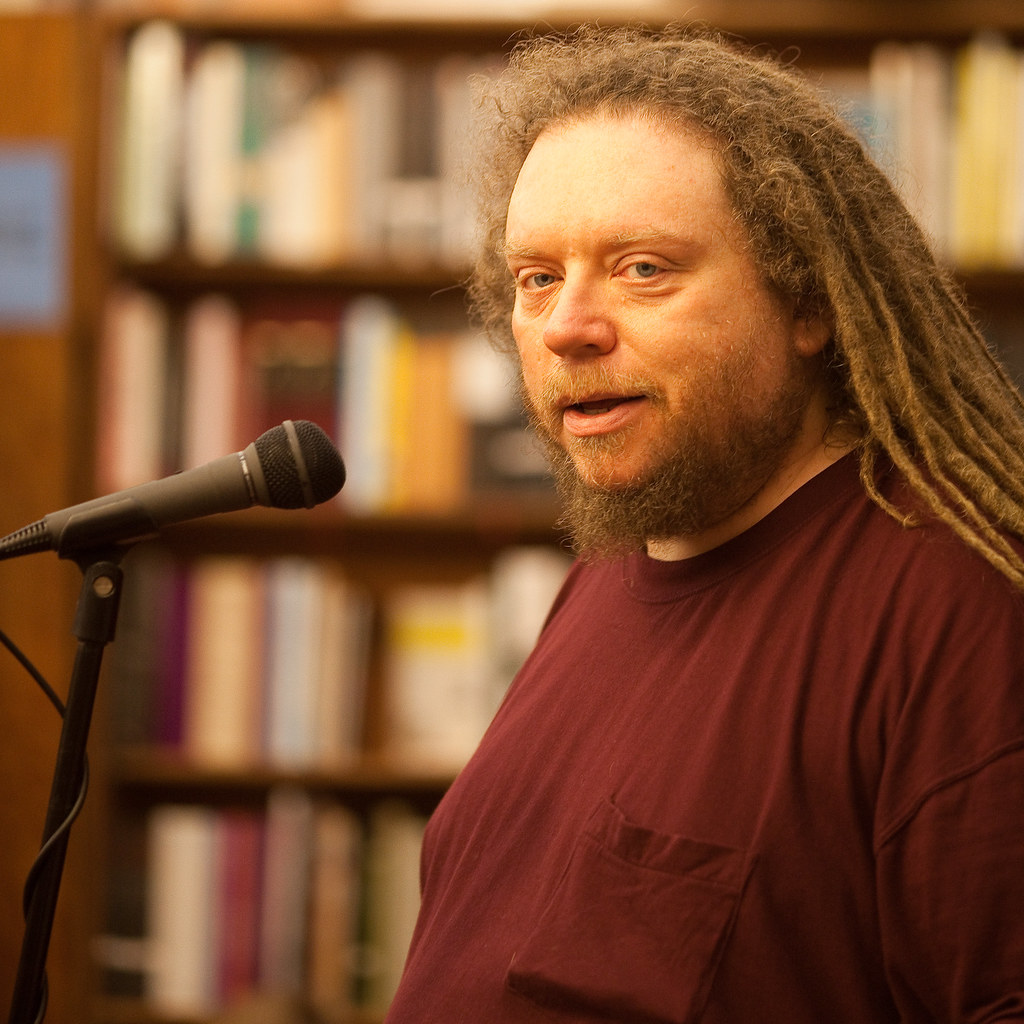 Jaron Lanier, Author of Ten Arguments for Deleting Your Social Media Accounts Right Now, giving a speech.